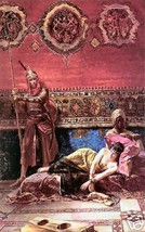 The Pasha's Concubine by F. Eisenhut  Old Masters Print - $9.89