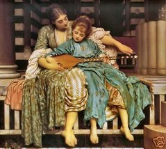 Music Lesson by Frederick Leighton HET Giclee P... - $74.25