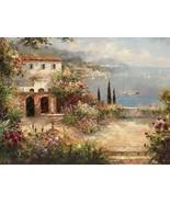 Mediterranean Villa by Peter Bell Seascape Giclee - $321.75