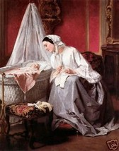 A Tender Moment  by Jules Trayer  Old Masters Print - $9.89