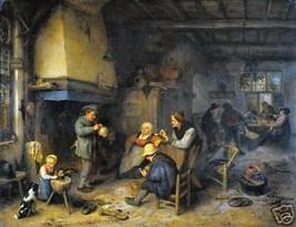 Peasants in Interior by van Ostade, Old Masters Print - $9.89