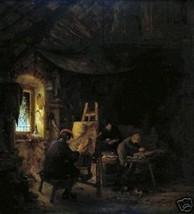 Painter's Studio by A. van Ostade, Old Masters Print - $9.89