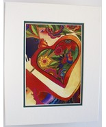Heart Song by Laurel Burch Abstract Print Doubl... - $19.79
