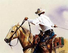 A Good Team by John Fawcett Team Roping Cowboy Print SN LE 950 Western - $99.00