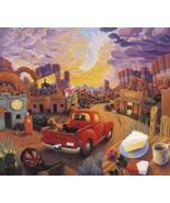 Stephen Morath Sunset Ride Southwest Desert Red... - $58.41