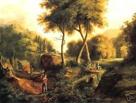 Old Masters Vintage Print,  Classic Landscape by Thomas Cole - $14.84