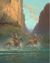Race to the Other Side by Jack Terry Cowboy Cat... - $34.64