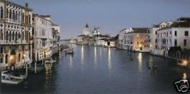 Evening In Venice by Rod Chase Italy Venetian Canal S/N LE Lithograph On... - $247.50