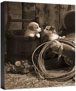 How Bout A Kiss Robert Dawson Cowboy Saddle Rope Spurs Fine Art Canvas 2... - $177.21