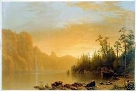 Sunset In California 1864 Vintage Landscape Scene Print - $14.84