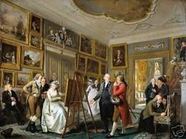 Art Gallery of Gildemeester by Aidriaan de Lelie  Old Master Print - $14.84