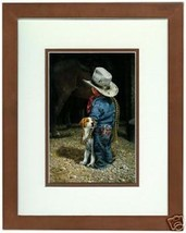 The Cola Cowboy By Don Crook Little Cowboy Western Framed Open Edition P... - $44.54