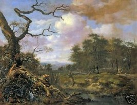 A Landscape by Jan Wijnants, 1659, Old Masters Print - $14.84