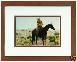 The Skies Are Not Cloudy All Day Terri Moyers Cowgirl Double Matted Fram... - $44.54