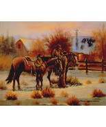 Cowboy's Early Light - John Stanford Western Ho... - $19.79