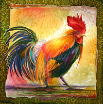 Masters Of Ceremonies by Nancy Cawdrey Art Deco Rooster Chicken Animal O... - $44.55