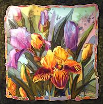Heirloom Iris by Nancey Cawdrey Art Deco Floral... - $44.55