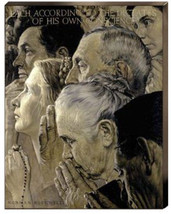 Freedom To Pray Norman Rockwell Praying Religio... - $286.11