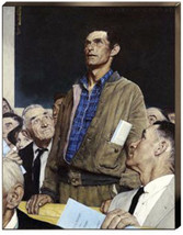 Freedom Of Speech Norman Rockwell Making a Spee... - $286.11