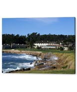 The 18th At Pebble Beach Golf  Monterey California Seascape Signed Canva... - $246.51