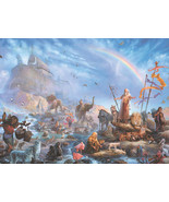 The Celebration by Tom duBois Religious Noah's Ark Open Edition Art Prin... - $39.59