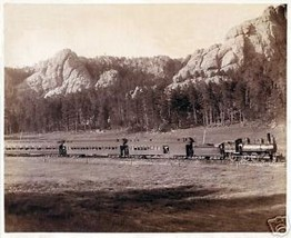 Old West Photo,Train at Horsey Print - $14.84