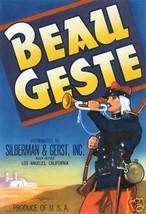 Vintage Crate Label, Beau Geste Produce, Los Angeles CA Print - $14.84