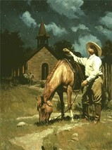 Little Lanterns Of God by Bruce Greene Cowboy Church Western Print - $29.69