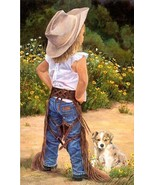 Boss Lady by June Dudley Puppy & LIl' Cowgirl 1... - $54.45