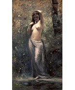 Nymph at The Source by Jean Baptiste Corot Beau... - $137.61