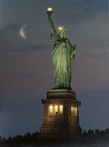 A Beacon Of Hope by Rod Chase Statue Of Liberty Patriotic Print Hand Signed - $39.59