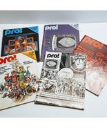 Lot of 5 Football Vintage magazines Pro! Nov 79, Nov 78, Aug 77, Aug  78 - $50.00