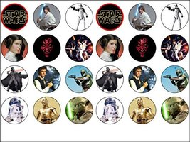 24 Star Wars Edible Wafer Paper Cup Cake Toppers Starwars by CakeThat - $9.99
