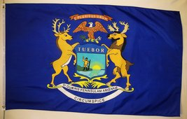 State of Michigan Flag 3' X 5' Indoor Outdoor State Banner - $9.95