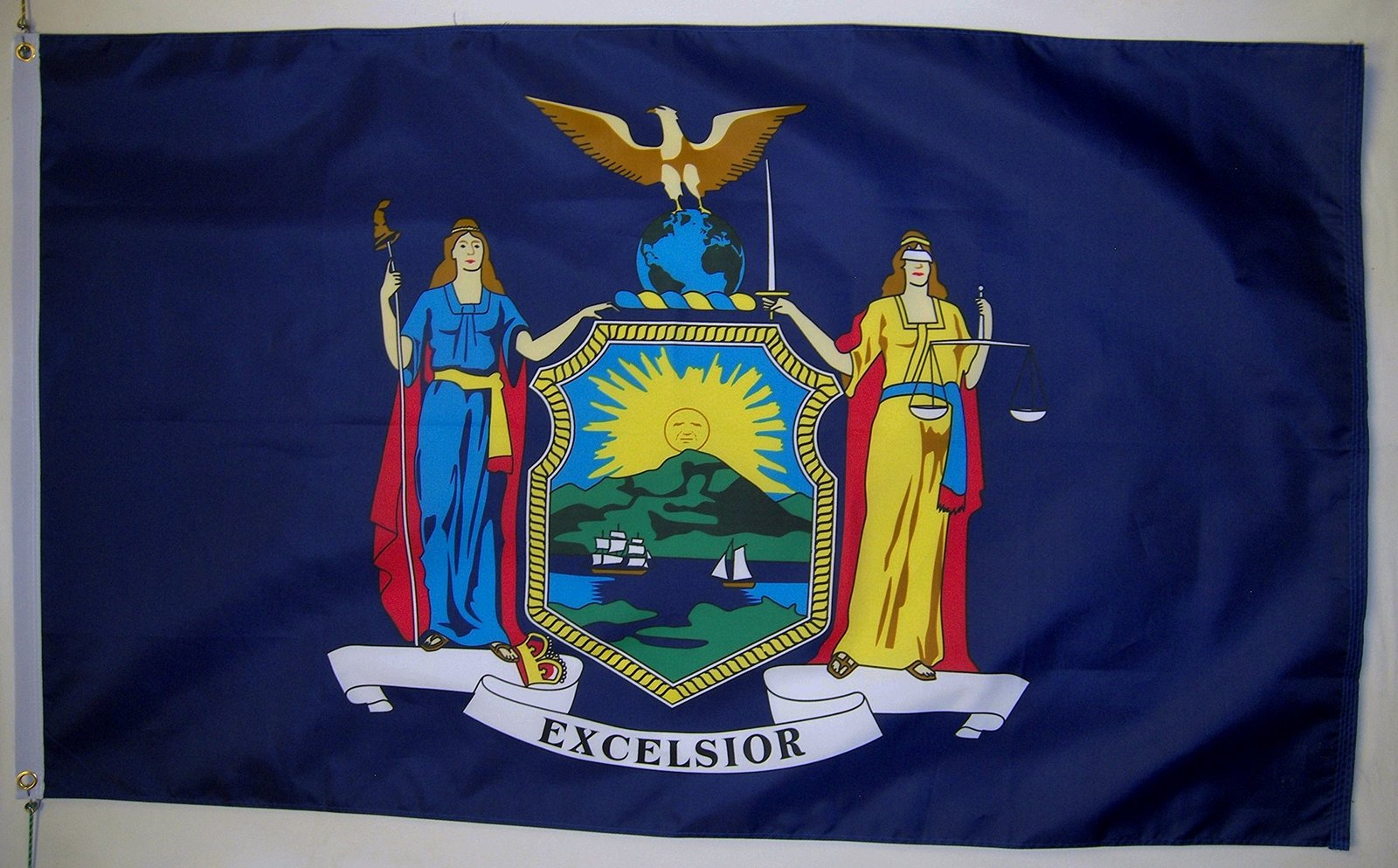 State of New York Flag 3' X 5' Indoor Outdoor State Banner