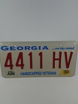 GEORGIA - 2004 Handicapped Veteran ON MY MIND slogan license plate 4411 HV - $15.83