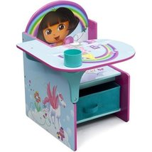 Nickelodeon Dora Chair Desk Made of Engineered Wood and Fabric - $98.95