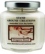 Premium 100% Soy Wax Candle - 6 - oz. Hex Jar- Dragon's Blood - A potent... - $12.99