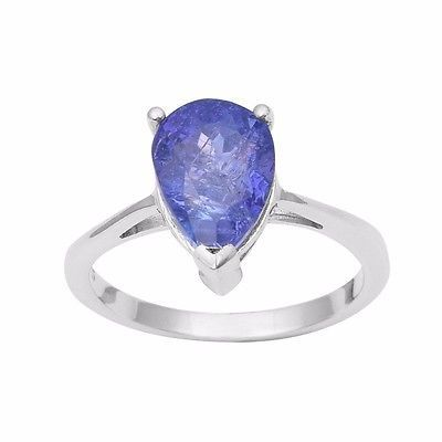 5.20 Ct Natural Shiny Tanzanite Gemstone 925 Sterling Silver Ring Sz 7 SHRI0981