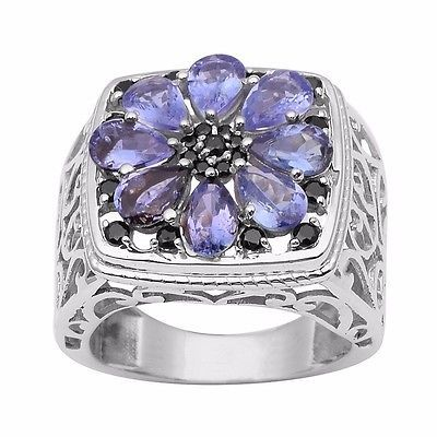Newest Collection Jewelry 925 Sterling Tanzanite Gemstone Ring Sz 10 SHRI0982