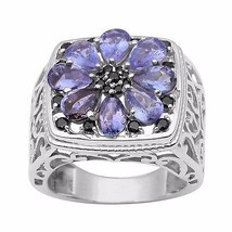 Newest Collection Jewelry 925 Sterling Tanzanite Gemstone Ring Sz 10 SHR... - $48.96