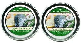 Premium 100% Soy Candles - Set of 2 - 2 oz Tins Odor Eliminator: Wipe ou... - £8.97 GBP