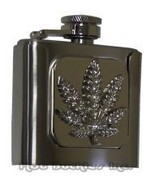 Pot Leaf Flask Belt Buckle - $18.00