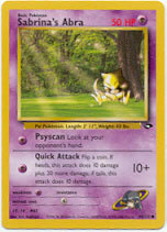 Sabrina's Abra 94/132 Common Gym Challenge Pokemon Card