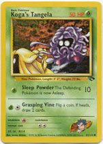 Koga's Tangela 81/132 Common Gym Challenge Pokemon Card