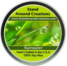 Premium 100% All Natural Soy Candle - 6 oz Tin - Rain Water: A very fres... - $10.99