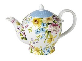 Porcelain Teapot Traditional English Style Vint... - $32.74