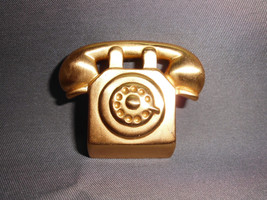 VTG Large Gold Tone Telephone Pin Brooch - $19.80