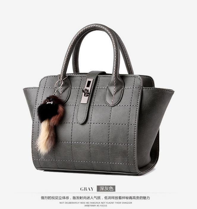 Fashion New Women Leather Tote Bags Medium Shoulder Bags P061-1