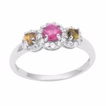 Sweet Engagement Women Ring 925 Sterling Pink Tourmaline Stone Ring Sz8 ... - $19.41